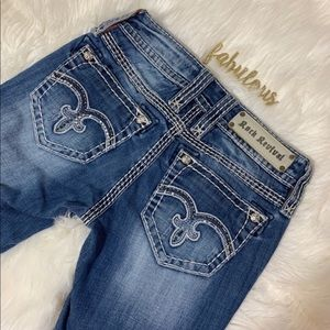 Rock Revival Alanis Boot cut front patches jeans